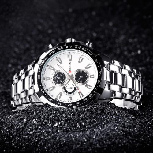 Top Brand Luxury full steel Watch Men Business Casual quartz Wrist Watches Military Wristwatch waterproof