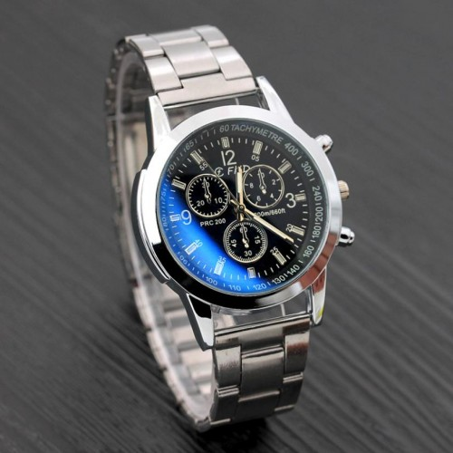 Watch Men Luxury Brand Steel Date Business Clock Silver Mens Watch Relogio Masculino De Luxo