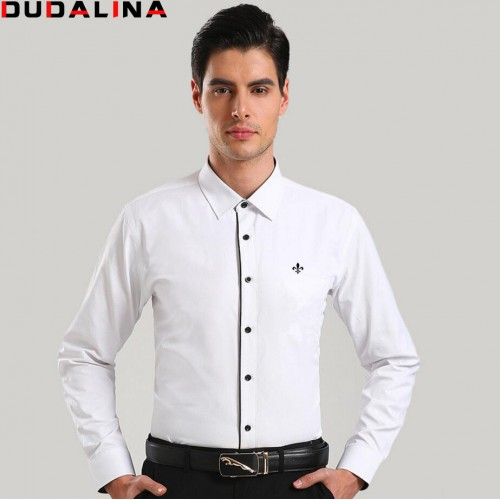 Dudalina Camisa Male Shirts Long Sleeve Men Shirt Brand Clothing Casual Slim Fit Camisa Social Striped
