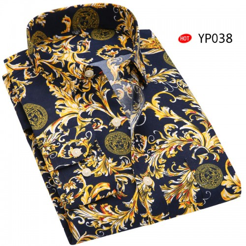 2017 NEW men s long sleeve casual print shirts bussines work dress shirts for men fashion