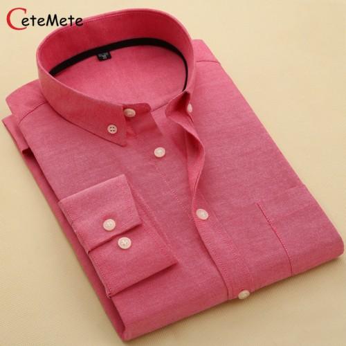 Brand Clothing Mens Business Shirts Slim Long Sleeve Men Shirt Casual Camisa Social Masculina Male Shirt
