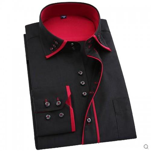 Hot sale 2017 super long sleeve plus size men dress shirt male business spring autumn