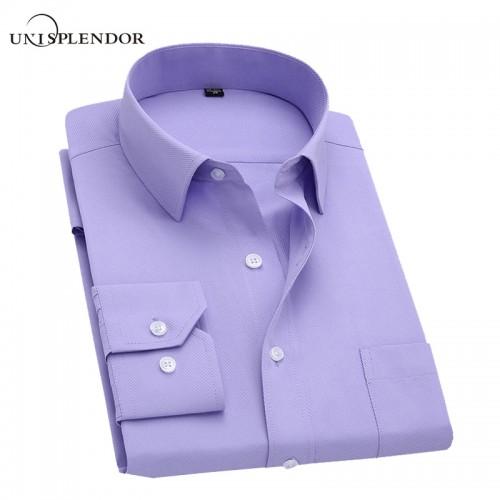 Long Sleeve Slim Men Dress Shirt 2017 Brand New Fashion Designer High Quality Solid Male Clothing