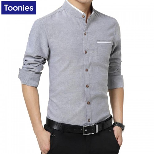 New 2017 Brand Clothes Mens Dress Shirts Business Casual Chemise Homme Long Sleeved Slim Fit Shirt