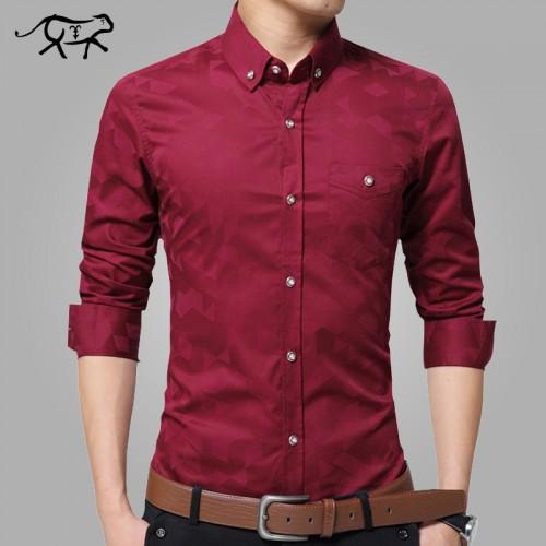 Spring Brand New Men Shirt Male Dress Shirts Men s Fashion Casual Long Sleeve Slim Business