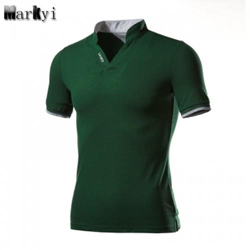 MarKyi plus size 5xl Short Sleeve Turn Down Collar Mens Polo Shirts Good Quality Summer Camisa
