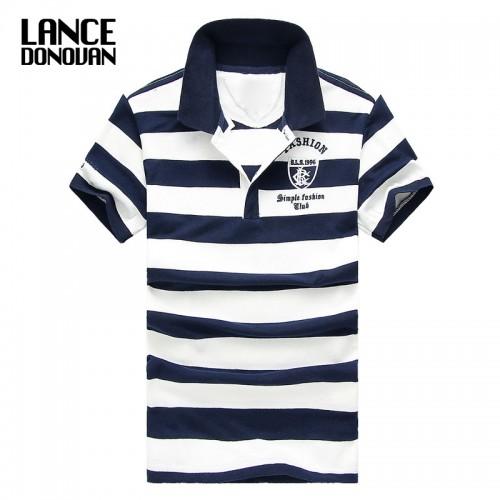 Men Classic Striped Polo Shirt Cotton Short Sleeve NEW Arrived 2016 summer Plus size M XXXXL
