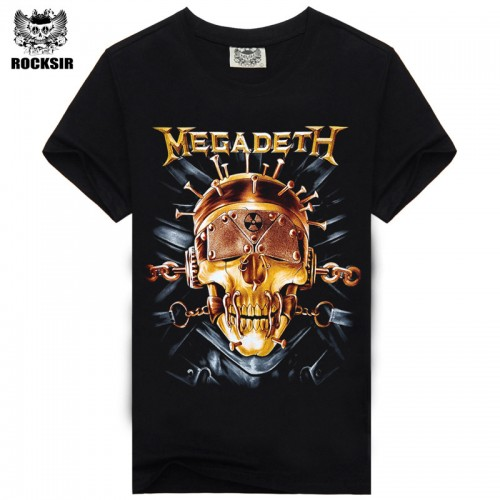 Rocksir summer Megadeth men s t shirt for men 100 cotton fashion Casual t shirt
