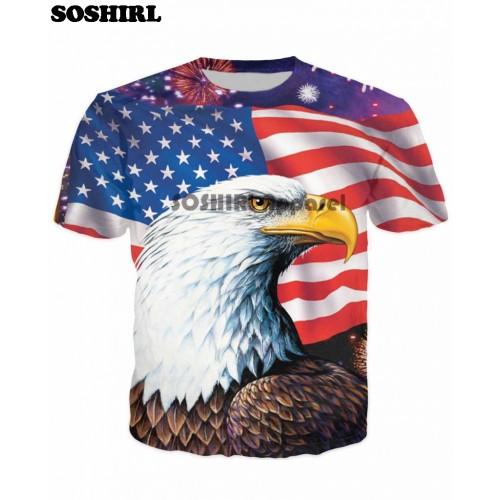 SOSHIRL Animal T Shirt Funny 3D T Shirt Men s Summer Tops US Size