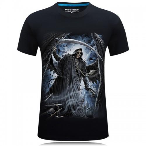 Summer 3d t shirt hip hop Horror Skull print O neck t shirt Casual Tee