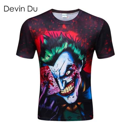 new the Joker 3d t shirt funny comics character joker with poker 3d t shirt