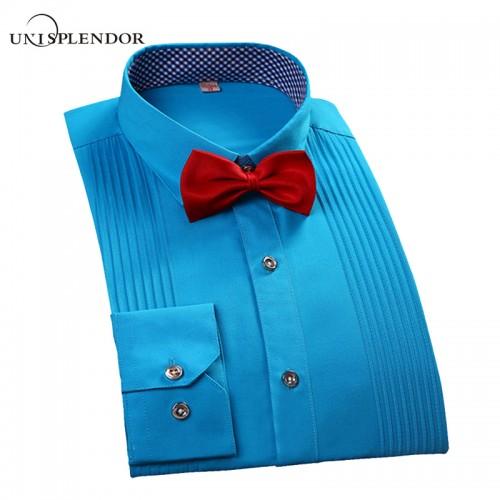 2017 Brand New Men Three Dimensional Shirts Married Groom Shirt Slim Fit Groomsman Long Sleeve Man