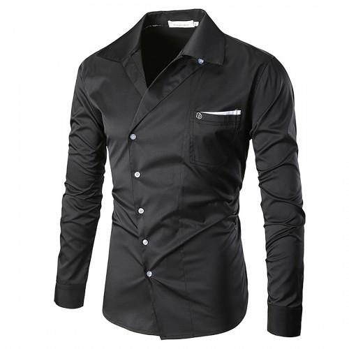 2017 Spring Shirt Mens Party Lapel kimono Shirt Long Sleeve chemise homme brand clothing camisa vestidos
