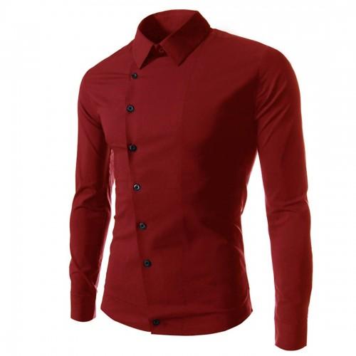 M 3XL Button Up Brand Tuxedo Shirts Men Turn Down Collar Long Sleeve Business Shirt Plus