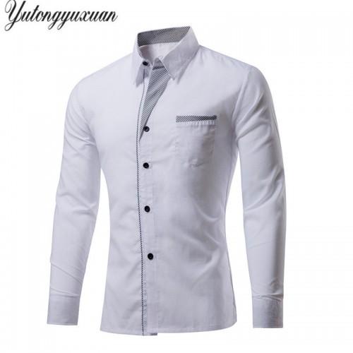 M 4XL Plus Size Top Sale Men s Luxury Shirts Stylish Casual Shirt Men Long Sleeve