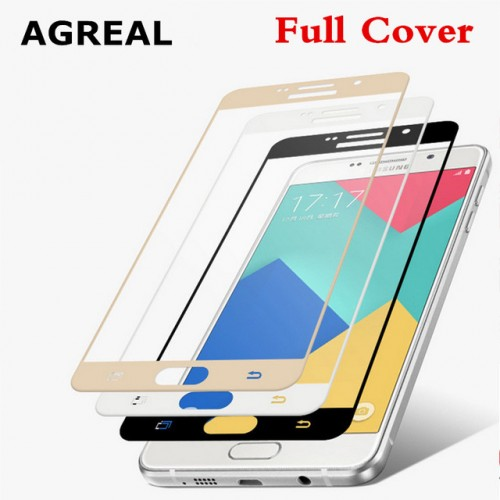 AGREAL 3D Curved Edge Full Cover Premium Tempered Glass Screen Protector for Samsung Galaxy A5 2016