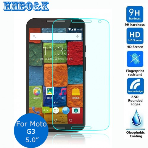 Safety Tempered Protective Glass Film 0 3mm For Motorola Moto G3 XT1540 xt1541 xt1543 xt1544 Screen