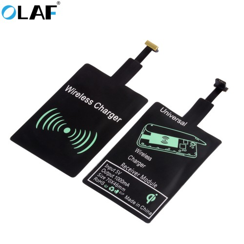 OLAF Universal Qi Wireless Charger Receiver Adapter Receptor Receiver Pad Coil For iPhone Micro USB Android