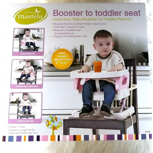 Mastela Deluxe Comport Folding Booster To Toddler Seat Chair