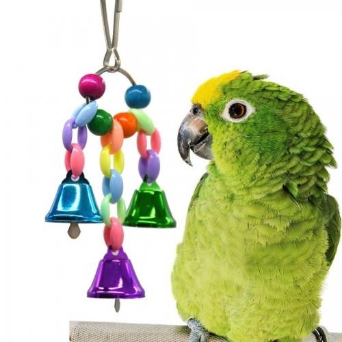 Birds Stand Accessories Parrot Toys Hanging Bridge Chain Pet Bird Parrot Bird Cage Toys for Parrots