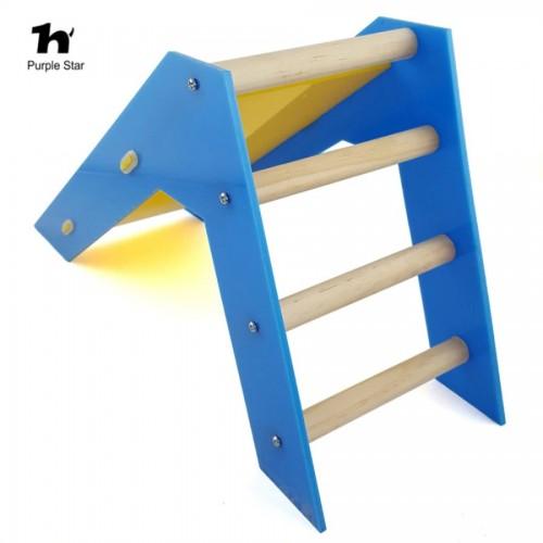 Purple Star Bird Parrot Skill Trainng Slide Ladder Educational Toys Skill Training Standing Rest Rack Hamster