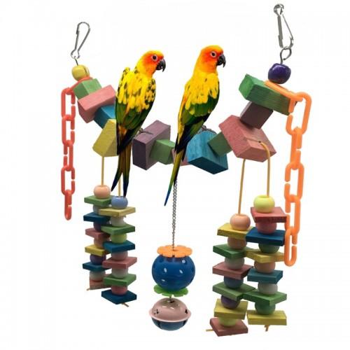 Parrot Scaling Ladder Perroquet Macaw Cockatiel Budgie Pets Birds Parrots Climb Circular Hanging Swing Birds Products