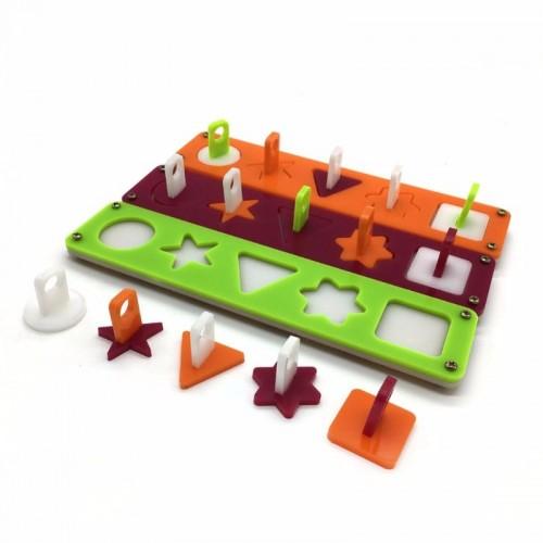 PipiFren Parrot Puzzle Training Intellectual Development Toys Pattern Separation Bird Toys S Size Random Color jouet