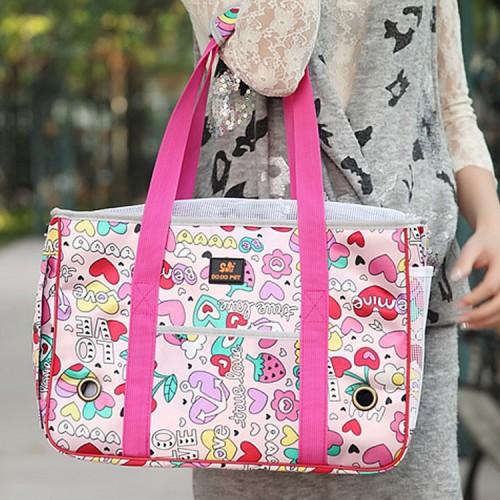 Blossoming strawberry fashion pet bag cat Pomeranian Backpack Bag