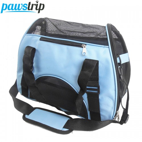 Folding Pet Carry Bag Breathable Mesh Cat Carriers Outside Portable Travel Bag Waterproof