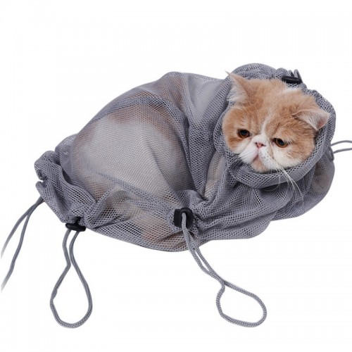 Multi function Washing Pet Supplies Cat Grooming Bag Scissors Nail Trimming Hair Catching Catching Kitten