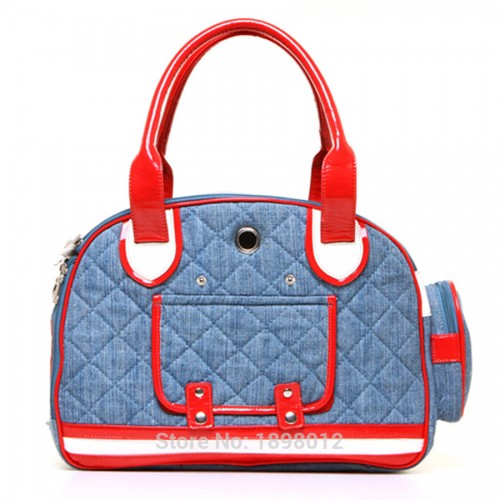 Pet Carrier Denim Canvas Bag Sling Tote Carriers Approved