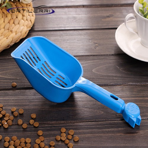 Plastic Pet Food Shovel Cat Litter Shovel Grid style Litter Tray Food