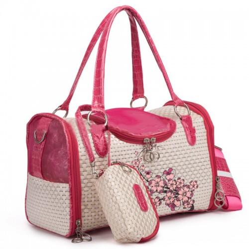 Prints Flower Travel Carrier Bags Portable Package Pet Shoulder Carries Handbag Small cat