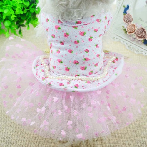 Spring and Summer Sweet Pet Cat Clothes Dress Skirt For Cat Yorkie Princess Dresses