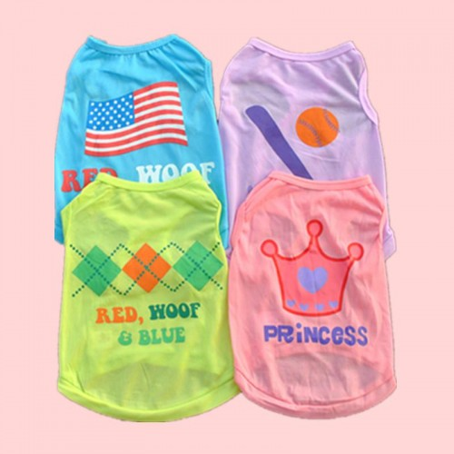 The new Pet clothes cats vest Summer shirt for cats Lovely Sweet