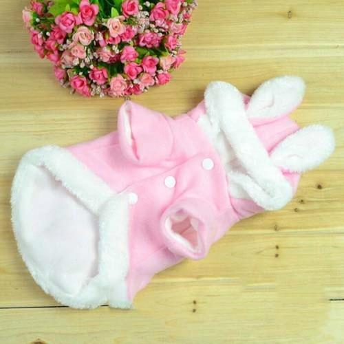 Warm Pet Clothes For Cats Cute Rabbit Pattern Cheap Pet Coats Wearing Clothes