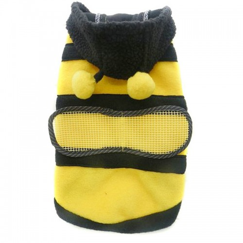 Yellow Bee Pet Cat Hoodie Coat Jackets Warm Fleece Sweaters Jumpers