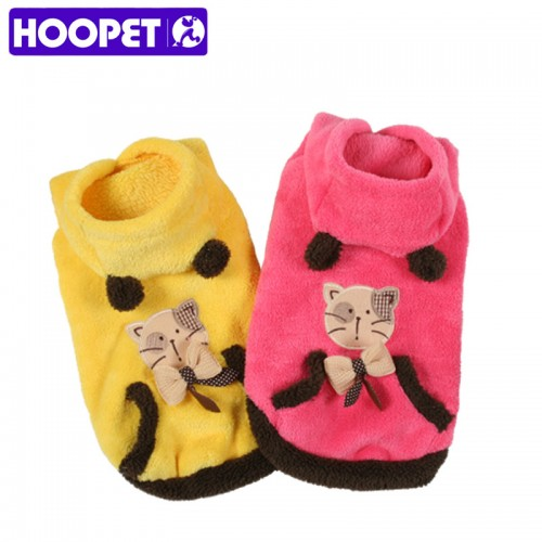 pet clothes soft two sided coral fleece super cute sweet cat patterned warm cat clothes