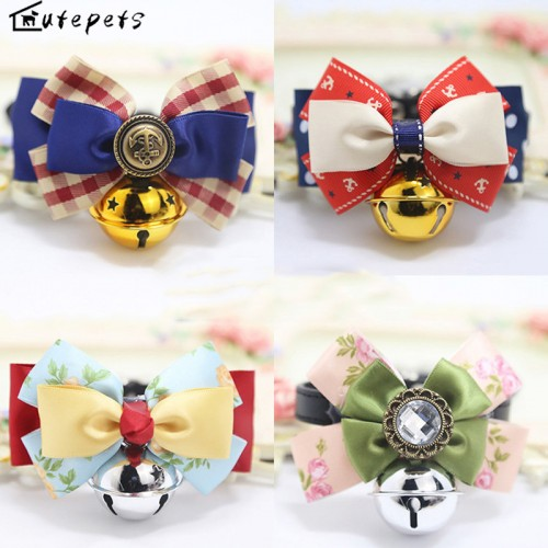 Cat Collar with Big Bell Bling Collar for Cats and Small with Big