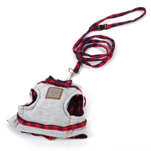 Cat Harnesses Leads Traction Kit Elegant British Style Jacket Leash Collars Knitted