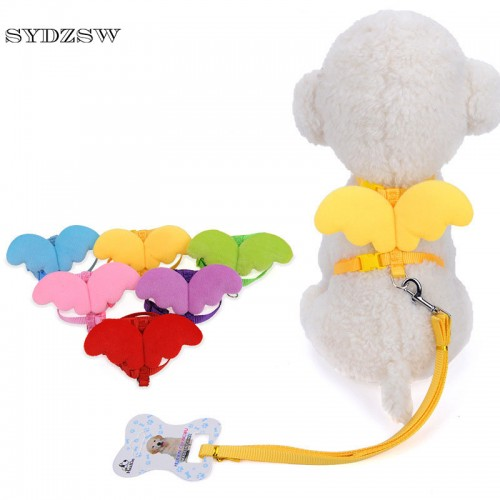 Nylon Pet Leash Cute Angel Wing Small Lead Cat Harness