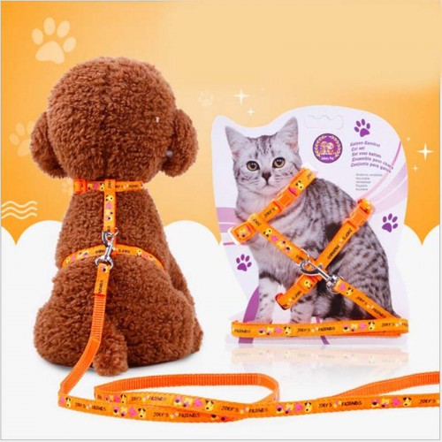 Nylon Rope Pet Supplies Pet Adjustable Cat Harness Lot With Leash Lead Walking Chest Strap
