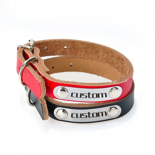 Personalized Soft Leather Laser Cat Collars Engraving Metal Buckle Cat Name Custom