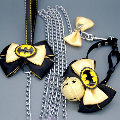 Pet Batman Scarf Set Pet Cat Scarf Collars