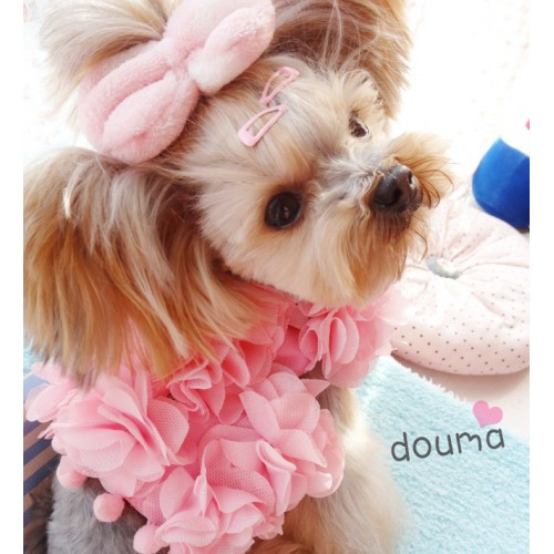 Princess Pink Harness Floral manual Pets Cats Puppies Small Animal Harness Vest With Lead