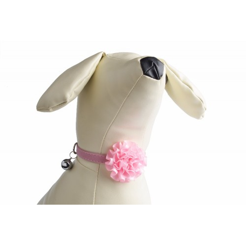 breakaway Rose Flower Velvet leather Cat Collar Adjustable Cozy Bow Tie Kitten