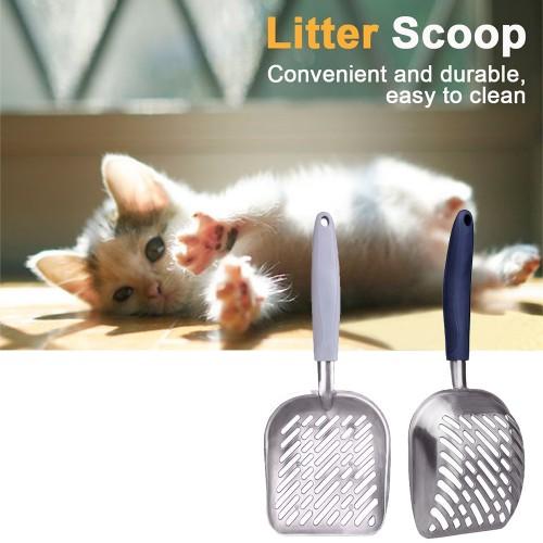 Aluminum Alloy Rubber Shovel Cleaning Garden Pet Cat Litter Sand Waste Pooper Scoop