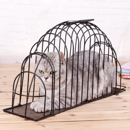 Metal Portable Carry Cat bath pet cage fur dryer wash machine needle scratch
