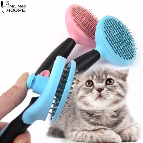 Quick Clean Pet Grooming Tools Stainless Steel Massage Bath Comb Rake Cat Puppy Kitten Shedding