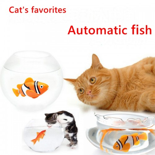 Battery Powered Fish Water Robot Toy Water Activated Robo Fish Keep Your Cats Entertained Updated